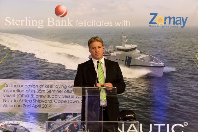 CEO of Nautic Africa Pty, Mr. James Fisher